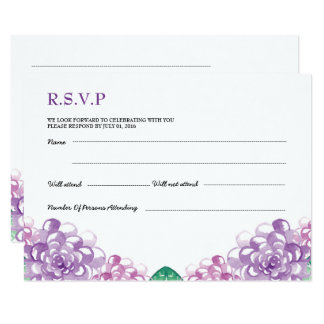 Wedding RSVP PostCard