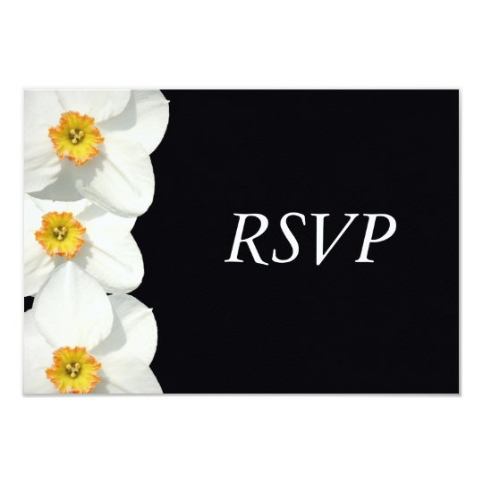 Wedding RSVP Response Daffodil / Narcissus Card