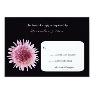 Wedding RSVP Return Card - Gerbera Invitation