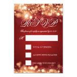 Wedding RSVP Sparkling Lights Gold 9 Cm X 13 Cm Invitation Card