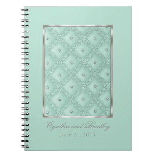Wedding RSVP Tracker Notebook Mint Green