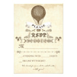 Wedding RSVP with romantic vintage hot air balloon