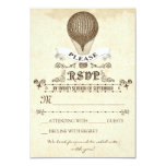 Wedding RSVP with romantic vintage hot air balloon Personalised Invitations