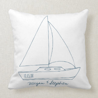 Wedding Sailboat Cushion