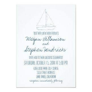 Wedding Sailboat - Invite