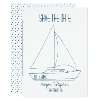 Wedding Sailboat - Save The Date Card