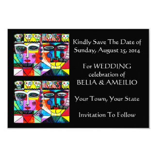 Wedding 'Save The Date' Card - Day Of The Dead Personalized Announcement