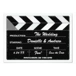 Wedding Save the Date Card   Movie Clap Board 13 Cm X 18 Cm Invitation Card
