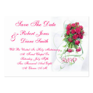 Wedding Save The Date Card Pack Of Chubby Business Cards