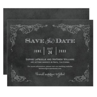 Wedding Save the Date Card | Vintage Chalkboard