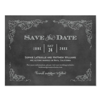 Wedding Save the Date Card | Vintage Chalkboard
