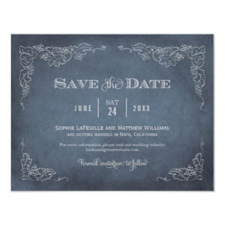 Wedding Save the Date Card | Vintage Wine 11 Cm X 14 Cm Invitation Card