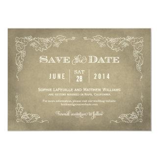 Wedding Save the Date Card | Vintage Wine 13 Cm X 18 Cm Invitation Card
