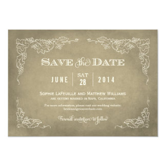 Wedding Save the Date Card | Vintage Wine 13 Cm X 18 Cm Invitation Card