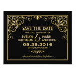 Wedding Save the Date Cards | Art Deco Style Custom Announcements