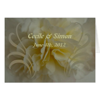 Wedding Save the Date Cream Floral Designs Greeting Card