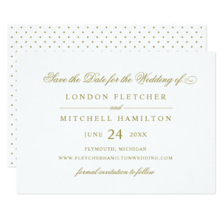 Wedding Save The Date | Gold Classic Elegance Card