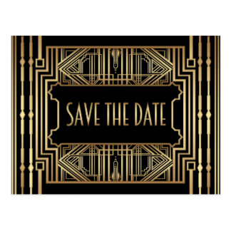 Wedding Save the Date, Great Gatsby Style Postcard