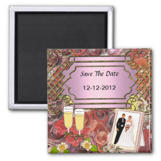 Wedding Save the Date Magnet  Drinks