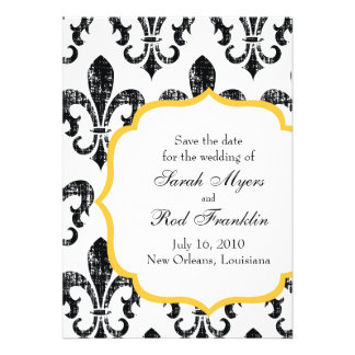 Wedding Save the Date New Orleans Gold Personalized Invitations