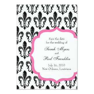 Wedding Save the Date | New Orleans | Pink Invitation