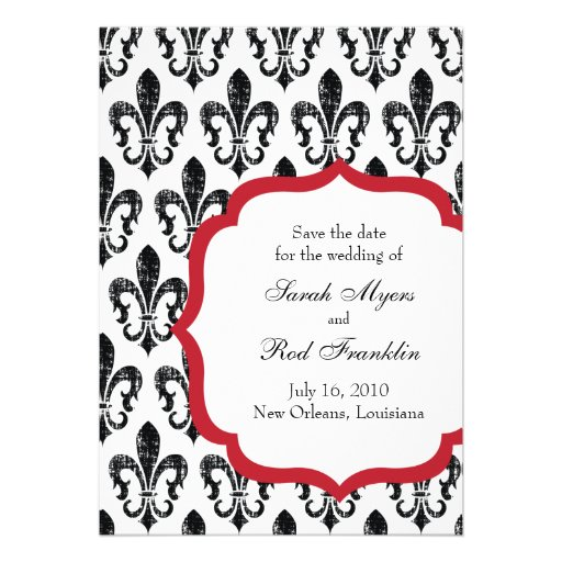 Wedding Save the Date | New Orleans | Red Custom Announcement
