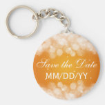 Wedding Save The Date Party Sparkle Orange Key Chains