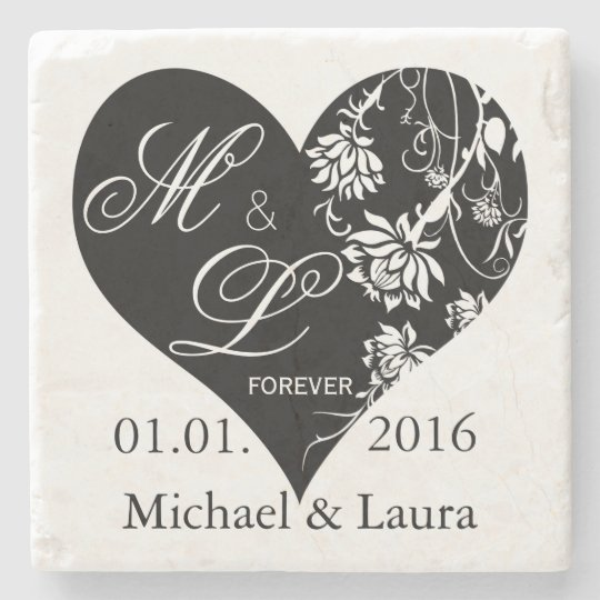 Wedding Save the Date Personalised stone coasters Stone