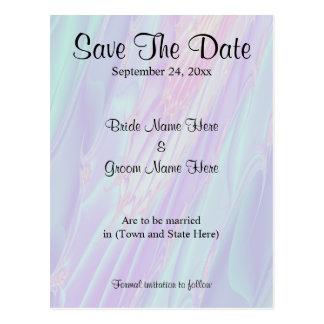 Wedding Save The Date. Seashell Style Pattern. Postcard