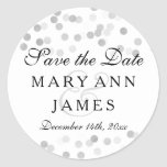 Wedding Save The Date Silver Foil Glitter Lights