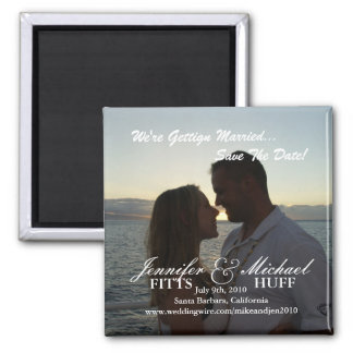 Wedding Save the Date Square Magnet