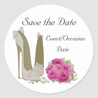 Wedding Save the Date Sticker