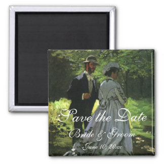 Wedding Save the Date! The Promenaders by Monet Square Magnet