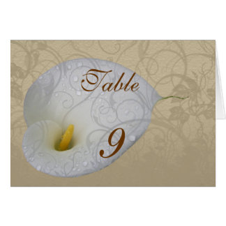 Wedding Save the Date with Dew drop White Lily Greeting Card