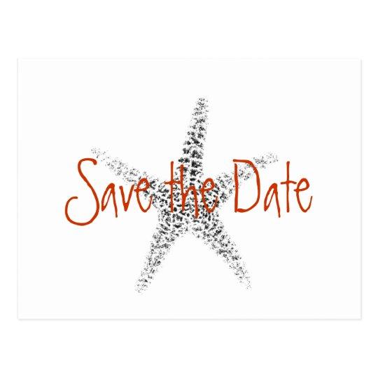 Wedding Save the Date with Starfish Postcard
