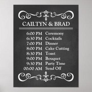Wedding Schedule Chalkboard Wedding Sign