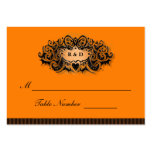 Wedding Seating Cards - Halloween Orange & Black Pack Of Chubby Business Cards
