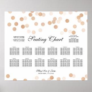Wedding Seating Chart Copper Foil Glitter Lights Poster