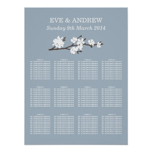 Wedding Seating Chart | Floral Branch Print