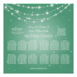 Wedding Seating Chart Sparkling Chain Mint Green