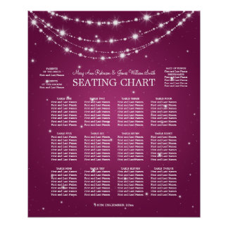 Wedding Seating Chart Sparkling Chain Pink