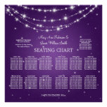 Wedding Seating Chart Sparkling Chain Purple