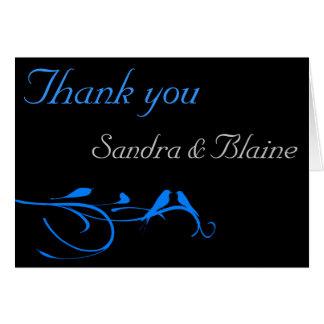 Wedding Set - Flourish - Blue Bird Greeting Card