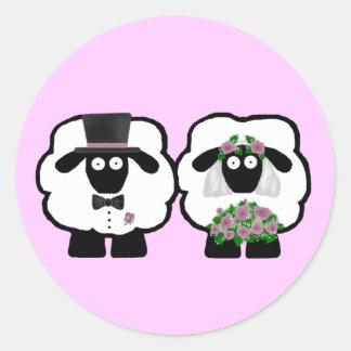 Wedding Sheep Stickers