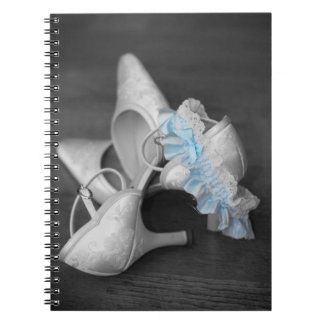 Wedding Shoes Notebook Black/White/Blue