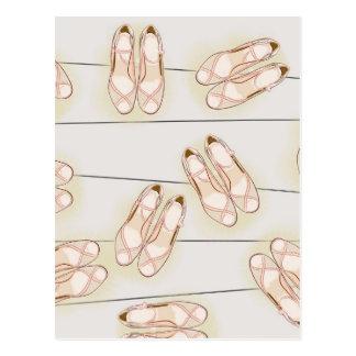 Wedding shoes pattern postcard
