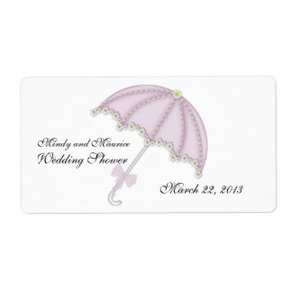 Wedding Shower II Water Bottle Lable Shipping Label