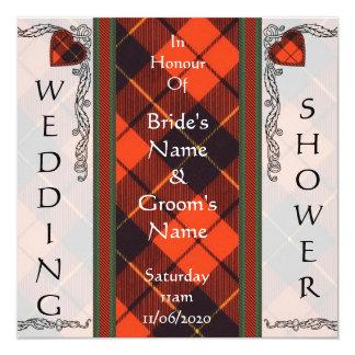 Wedding shower Invite - Wallace Tartan
