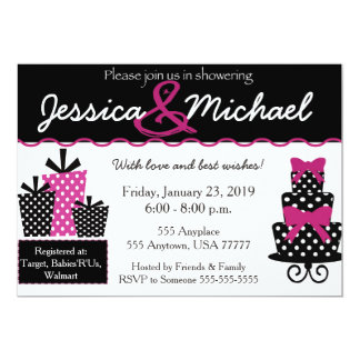 Wedding Shower pink invite w/envelopes