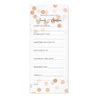 Wedding Shower Wishes Copper Foil Glitter Lights 10 Cm X 24 Cm Invitation Card